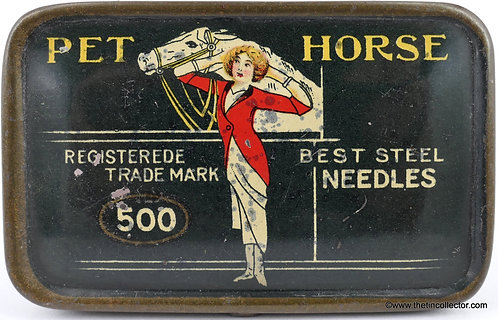 PET HORSE Gramophone Needle Tin (Large 500 size)