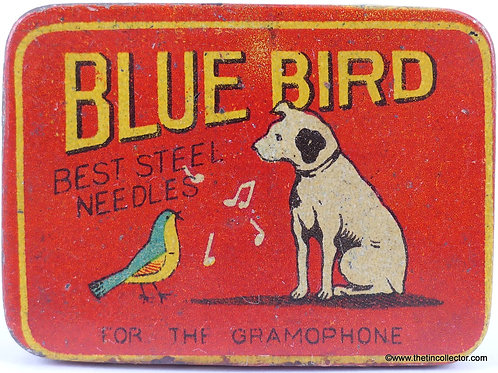 BLUE BIRD Gramophone Needle Tin