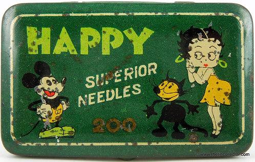 HAPPY Gramophone Needle Tin