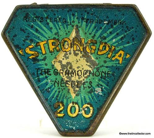 STRONGDIA Gramophone Needle Tin