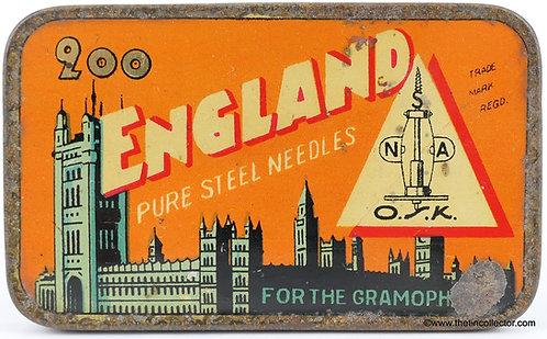 ENGLAND Gramophone Needle Tin