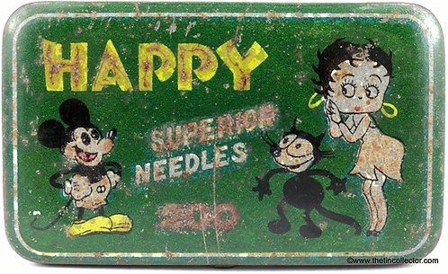 HAPPY Gramophone Needle Tin