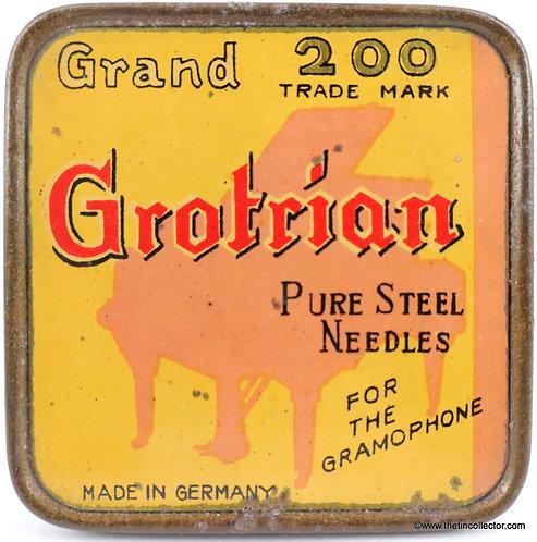 GRAND GROTRIAN gramophone needle tin