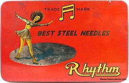 RHYTHM gramophone needle tin
