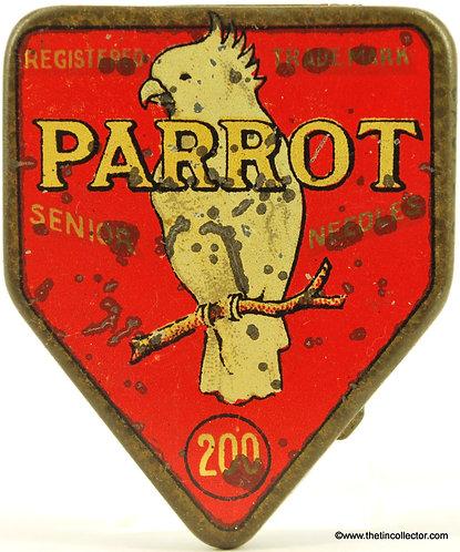 PARROT Gramophone Needle Tin (SHAPED)