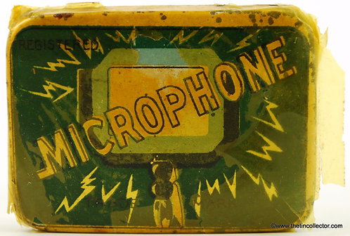 MICROPHONE Gramophone Needle Tin  **FACTORY SEALED**