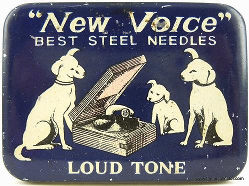 NEW VOICE Gramophone Needle Tin