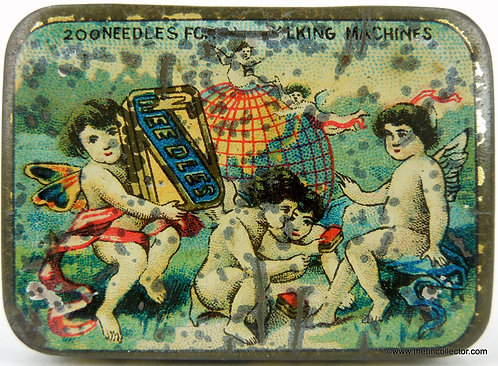 CHERUBS Gramophone Needle Tin  **EARLY 1900's**