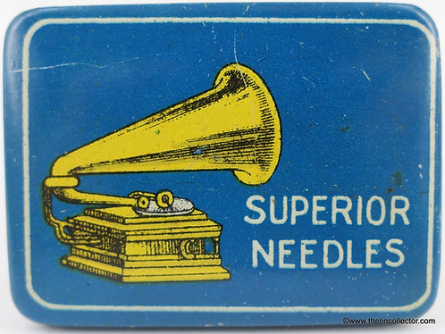 SUPERIOR NEEDLES Gramophone Needle Tin
