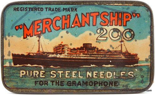 MERCHANT SHIP Gramophone Needle Tin