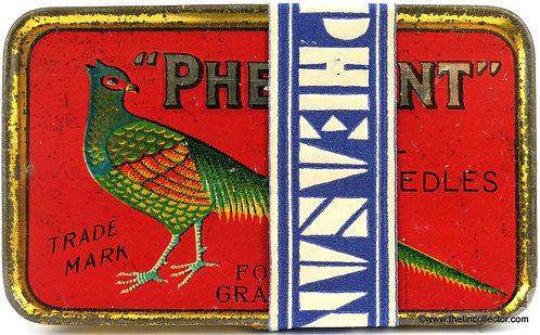 PHEASANT Gramophone Needle Tin - Factory Sealed