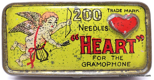 HEART Gramophone Needle Tin