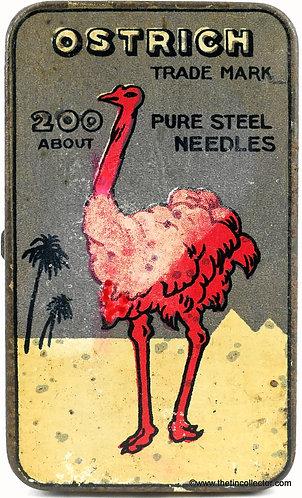 OSTRICH Gramophone Needle Tin