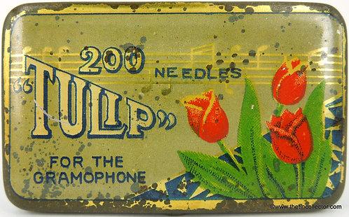 TULIP Gramophone Needle Tin