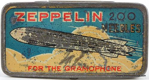 ZEPPELIN Gramophone Needle Tin