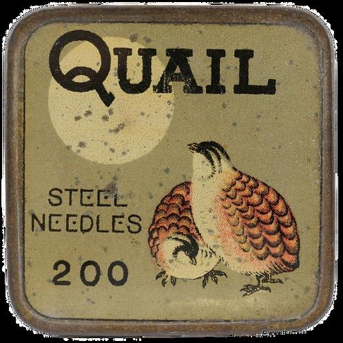 QUAIL Gramophone Needle Tin