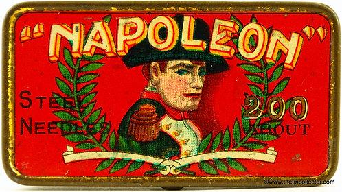 NAPOLEON Gramophone Needle Tin (Red Version)