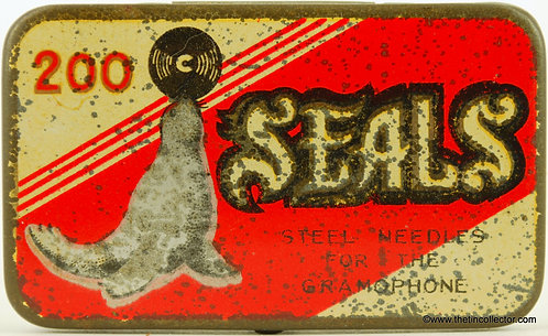 SEALS Gramophone Needle Tin