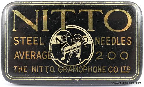 NITTO Gramophone Needle Tin