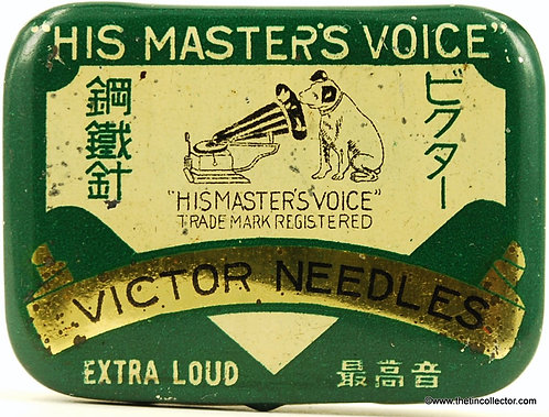 VICTOR (HIS MASTERS VOICE) Gramophone Needle Tin