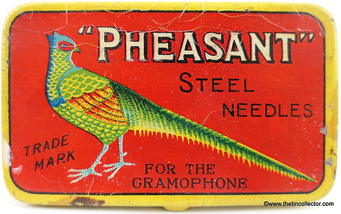 PHEASANT Gramophone Needle Tin