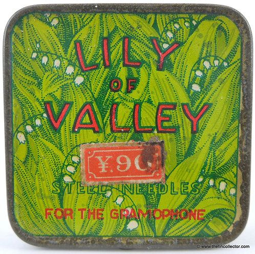 LILY OF VALLEY Gramophone Needle Tin