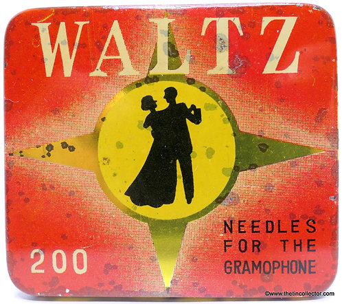 WALTZ Gramophone Needle Tin