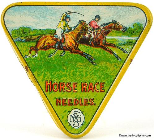 HORSE RACE Gramophone Needle Tin