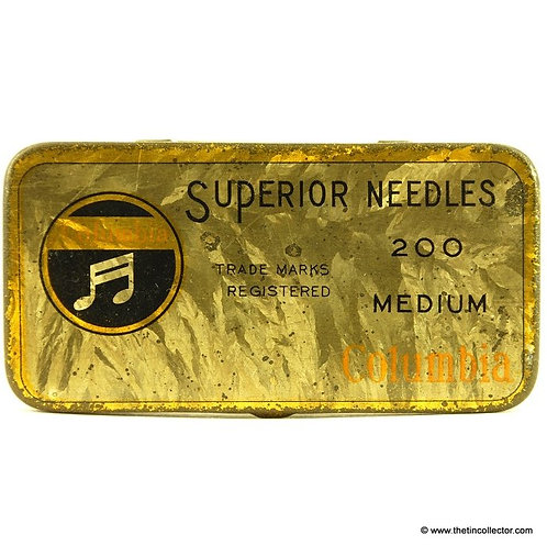 COLUMBIA Gramophone Needle Tin