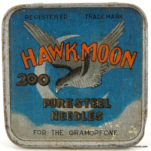 HAWK MOON Gramophone Needle Tin