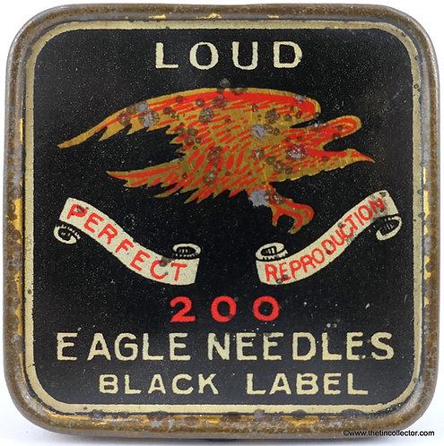 EAGLE Gramophone Needle Tin - BLACK LABEL