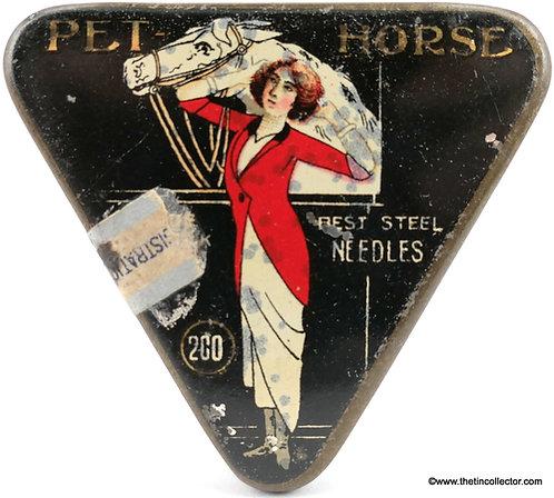 PET HORSE Gramophone Needle Tin