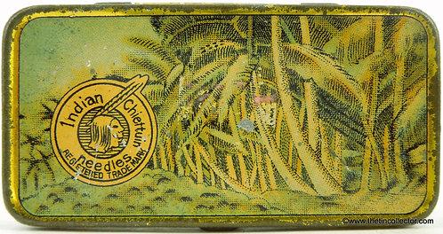 INDIAN CHIEFTAN Gramophone Needle Tin