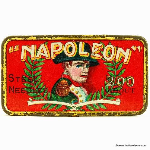 Red NAPOLEON Gramophone Needle Tin