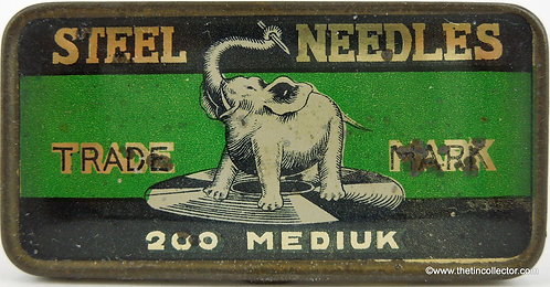 ELEPHANT Gramophone Needle Tin