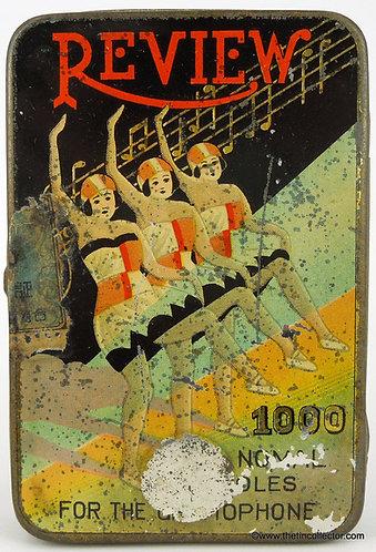 Rare 1000 size REVIEW Gramophone Needle Tin