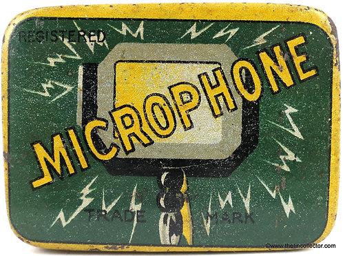 MICROPHONE Gramophone Needle Tin