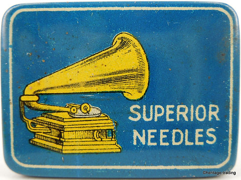 SUPERIOR NEEDLES Gramophone Needle Tin