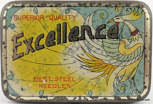 EXCELLENCE Gramophone Needle Tin