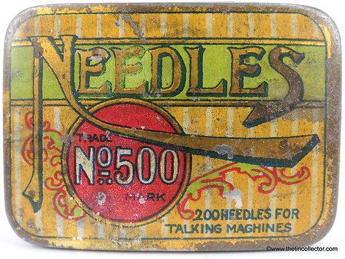 No. 500 Gramophone Needle Tin