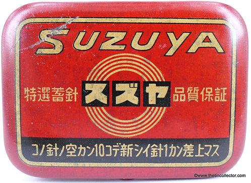 SUZUYA Gramophone Needle Tin