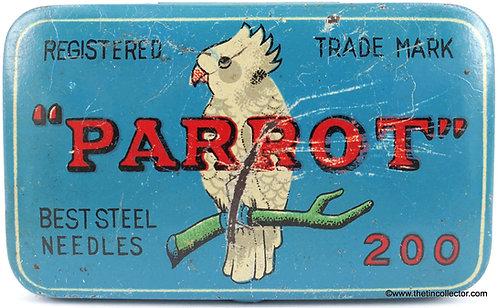 PARROT Gramophone Needle Tin - Scarce Blue Version