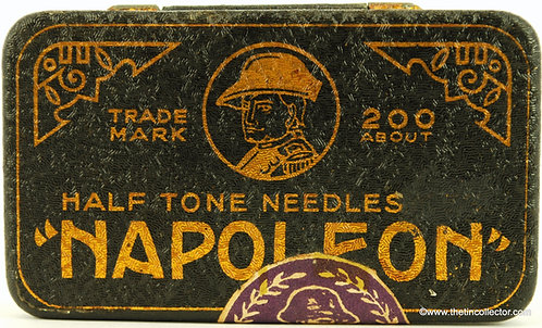 NAPOLEON Gramophone Needle Tin (Black & Gold)