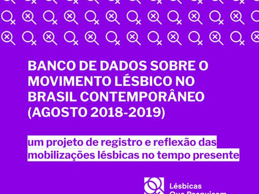 """Conheça o """"Banco de Dados sobre o Movimento Lésbico no Brasil Contemporâneo (agosto 2018-2019)"""""""