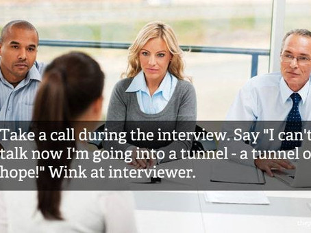 Basic yet surprisingly common Interview Mistakes: