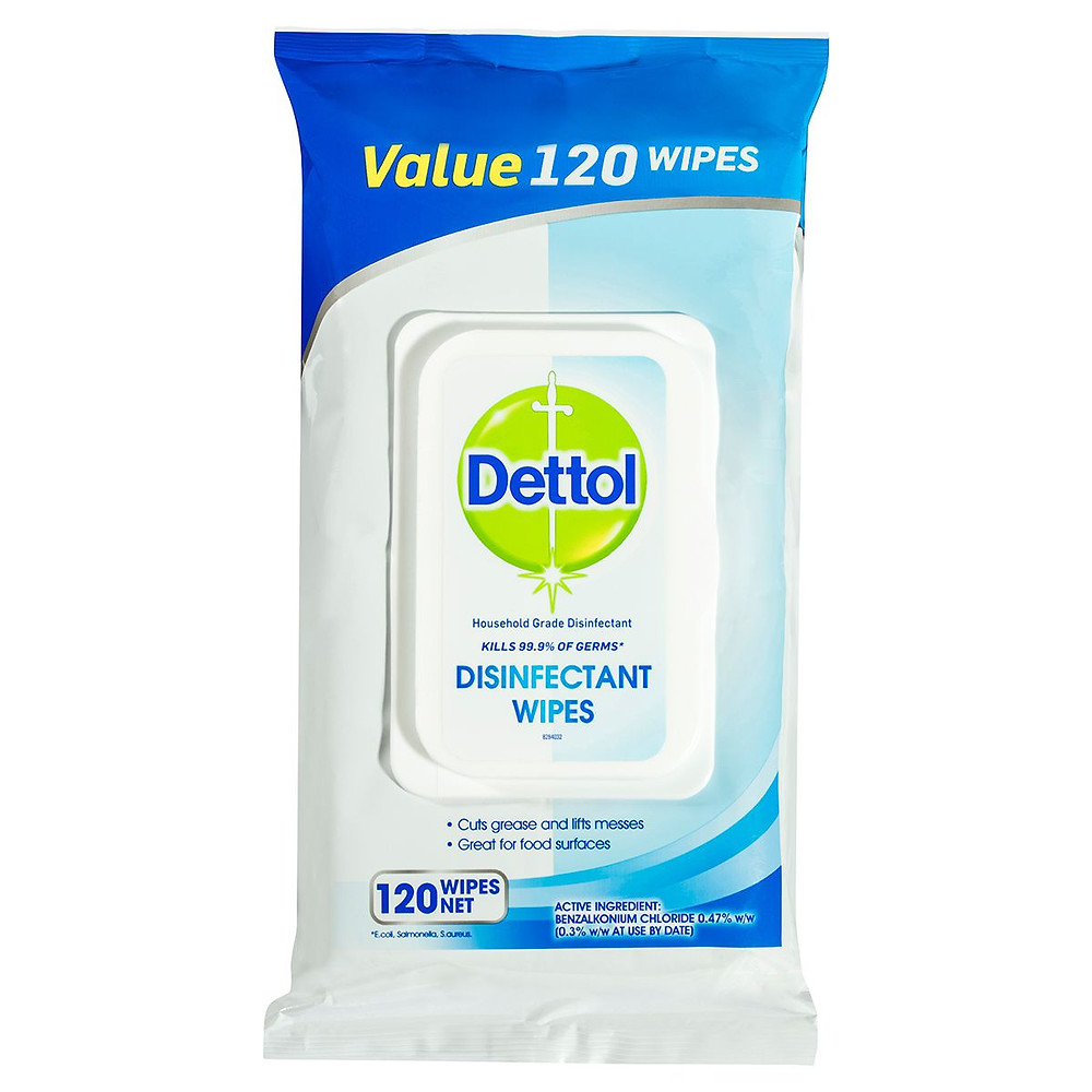 Dettol disinfectan wipes