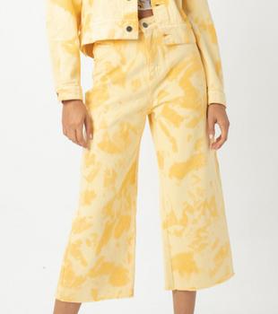 High Rise Relax Jean Yellow Tie Dye