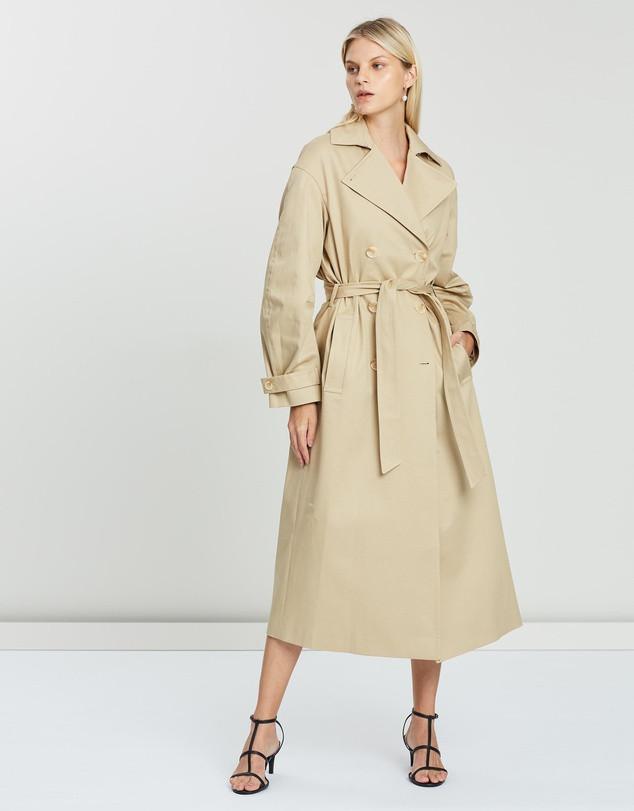house of dagmar camel trench coat