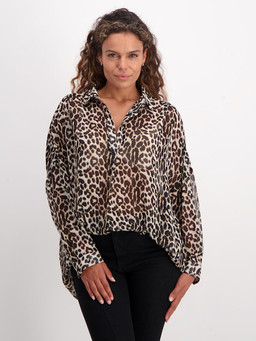 Best & Less leopard blouse