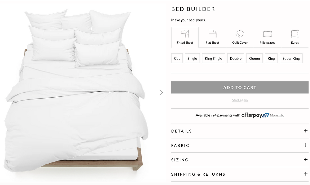 sheet society bed builder